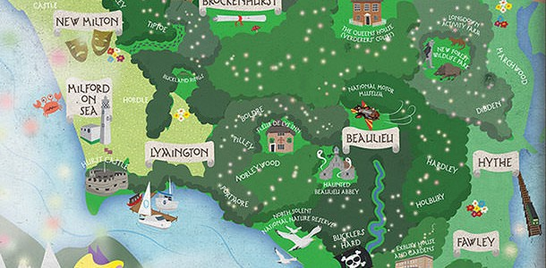 A  unique, magical map of the New Forest