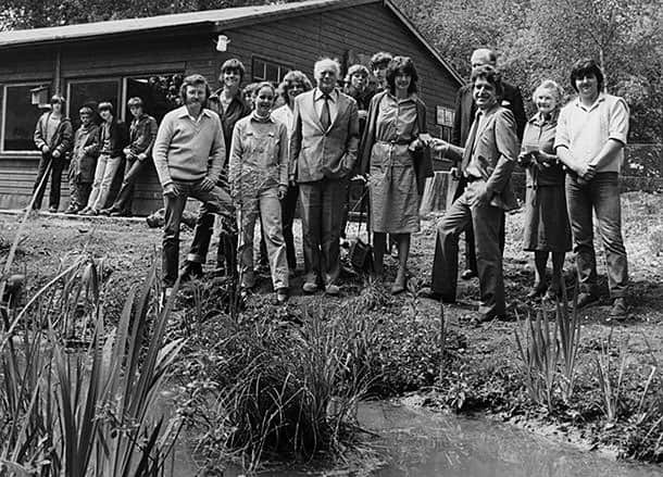 Lord & Lady Montagu with Countryside Education Trust staff in 1982