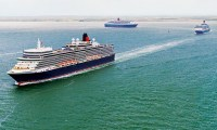 Cunard kicks off its 175 celebrations in Southampton with spectacular daylight sailaway
