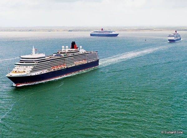 Three Queens coming into Southampton
