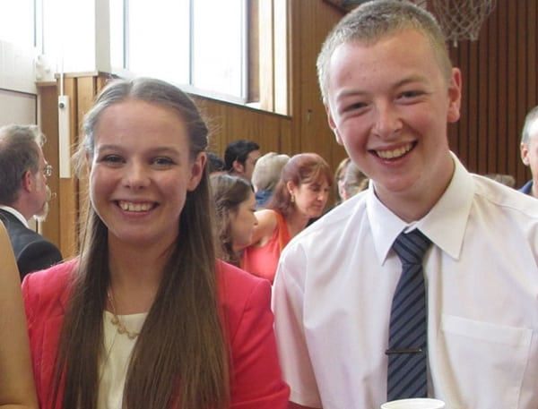 Ellie and Wil at Leaver's Assembly