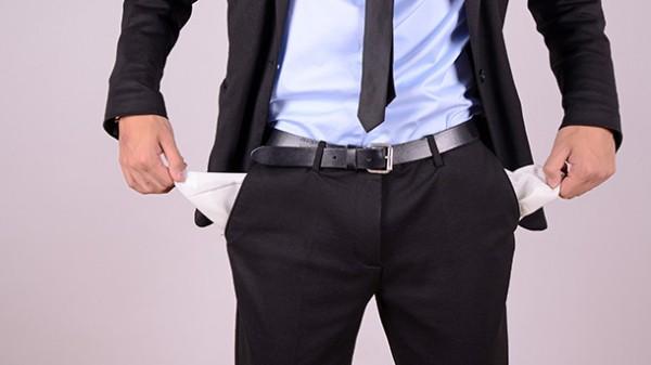 No money in his pockets