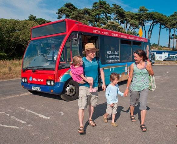 Beach Bus at Lepe Country Park
