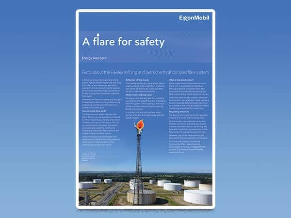 A flare for safety - Fawley Online