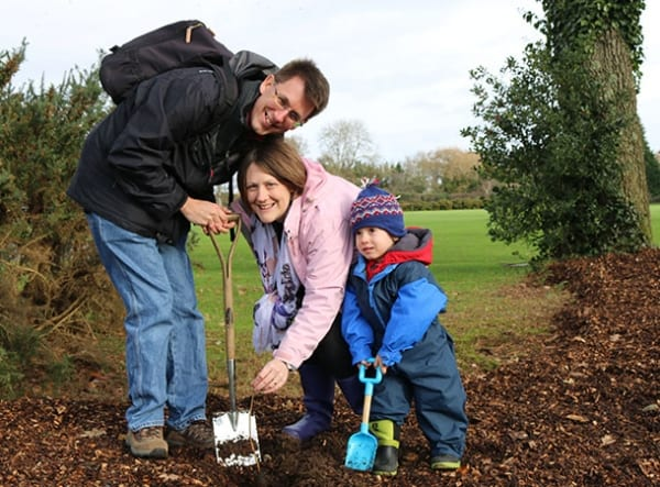 woodland - One of the families who took part in the 2015 Family Trees event.