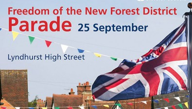 Military parade in Lyndhurst to celebrate council granting of Freedom of the New Forest