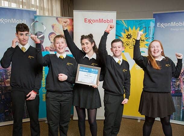 The team from Hounsdown school, winners of the UK National Sci-Tech Challenge