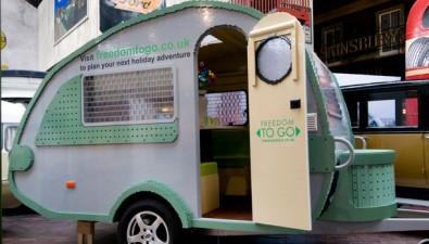 Record-Breaking Life-Size Lego Caravan On Show At Beaulieu