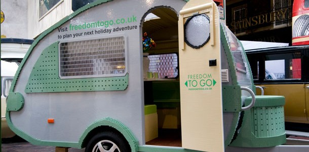 Record-Breaking Life-Size Lego Caravan On Show At Beaulieu