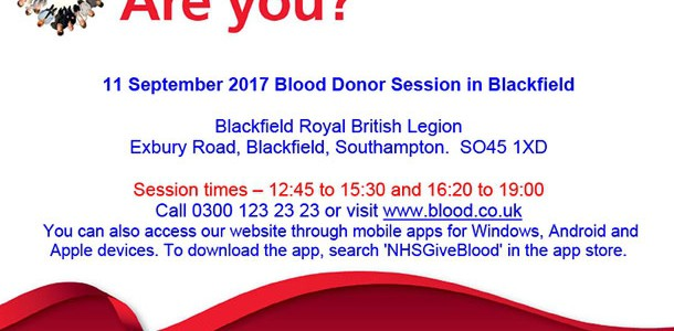 Blood Donation Session at Blackfield