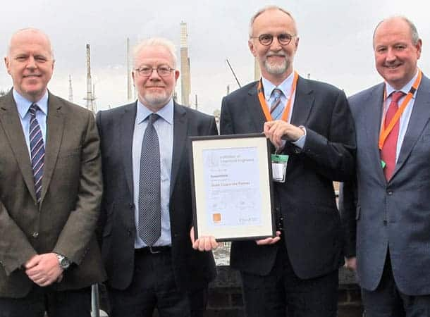 IChemE presents Gold Corporate Partner award to ExxonMobil L to R, Richard Henderson, Simon Downing, Jonathan Seville and Jon-Prichard