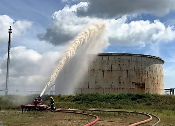 Fire crews at ExxonMobil Fawley mock fire exercise