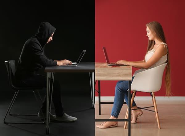 romance fraudster