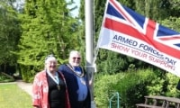 Armed Forces flag flown at NFDC offices