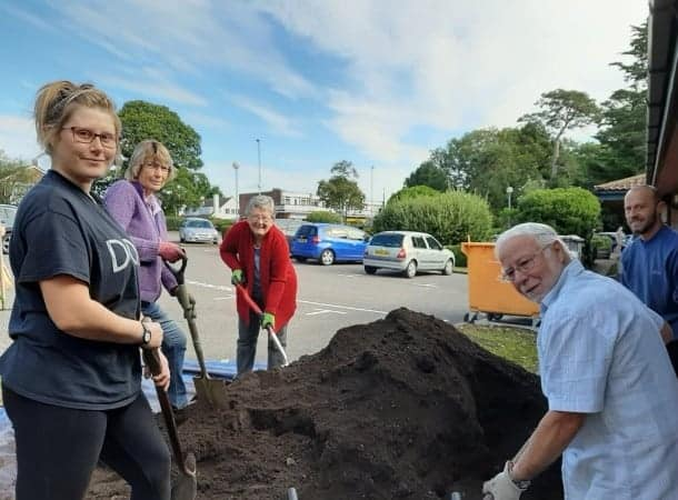 A community garden in the grounds of a local medical centre will blossom a little more this year thanks to a contribution from ExxonMobil Fawley.